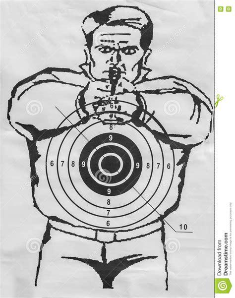 printable targets human human paper shooting target stock photo image 72546092