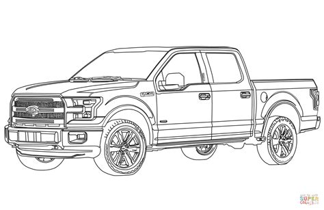 ford f150 pickup truck coloring page free printable