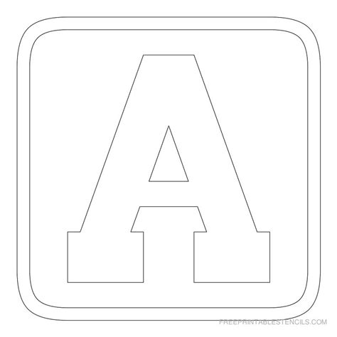 Large Block Letters Template Learnhowtoloseweight Net Free Printable Letter Templates