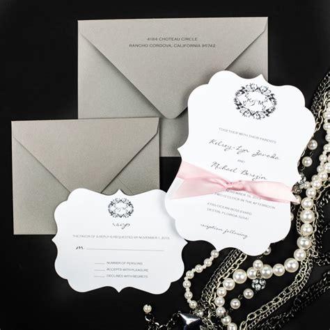 Die Cut Wedding Invitations die cut wedding invitations chic shab