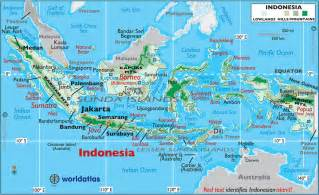 Indonesia Map World by Indonesia Large Color Map