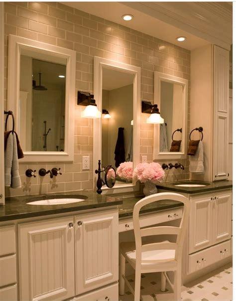 built in bathroom vanity bathroom with built in vanity new house bathrooms pinterest