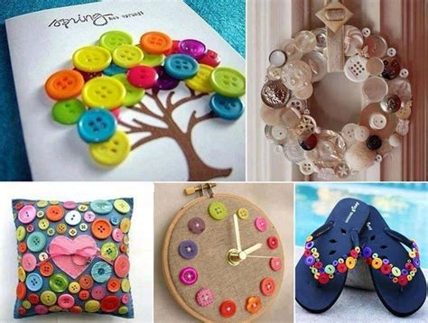 diy craft projects 15 diy button ideas cool crafts you can make with buttons