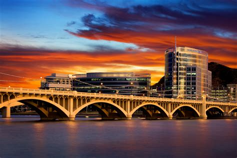 lowes tempe az sunset at hayden ferry lakeside hdr flickr photo