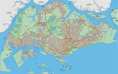 on a map maps of singapore detailed map of singapore in