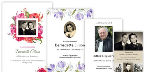 funeral order of service template funeral templates funeral templates business package