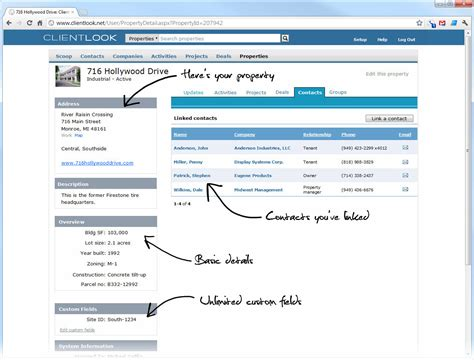 Records For Properties Real Estate Property Database Clientlook Crm