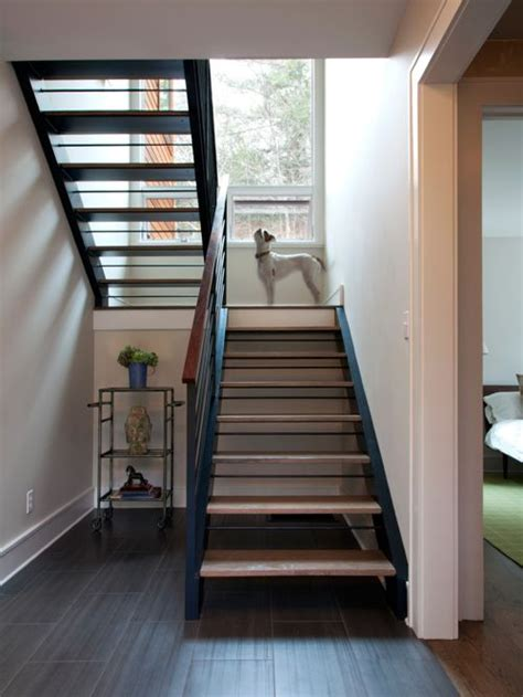 Decorating A Banister Open Stair To Basement Home Design Ideas Renovations Amp Photos