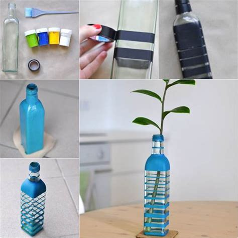 How To Make Vase From Bottle by How To Diy Vase From Recycled Glass Bottle