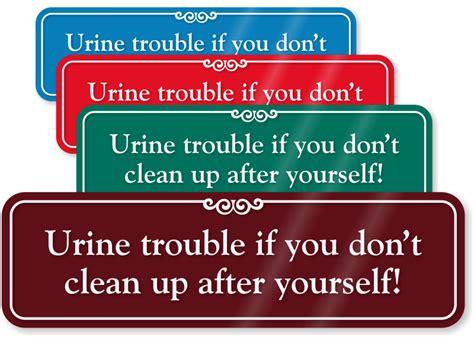 bathroom clean up signs funny bathroom signs