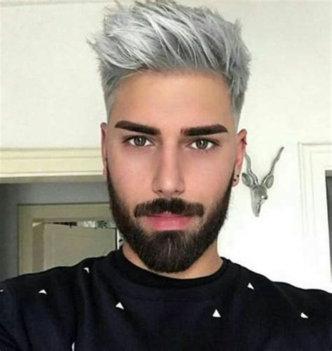 modern gray frame haircut modern hairstyle for men with grey color world trends