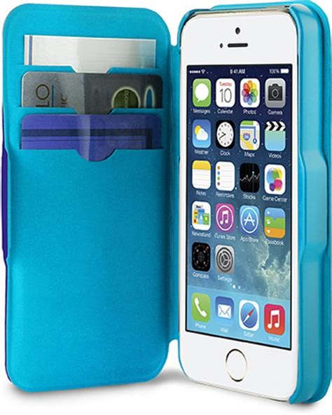 Cover 0 3 Apple Iphone 5 5s Puro Bol Apple Iphone Se 5 5s Eco Wallet Bicolor 3 Cardslot Blue Lblue