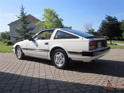 nissan datsun 1984 1984 datsun nissan 300 zx turbo white black stripes car t tops