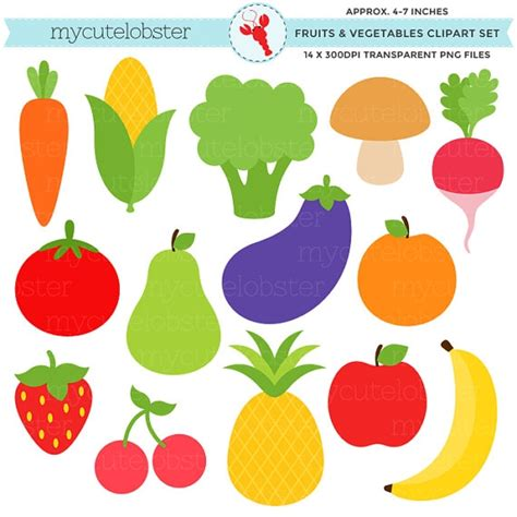 fruits and vegetables clipart fresh fruit and vegetables clipart clipground