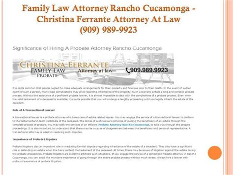 Attorney Rancho Cucamonga divorce attorney rancho cucamonga ferrante