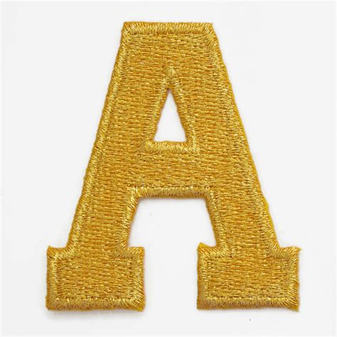 Letters Patch by Gold Alphabet Letter Iron On Patch Applique 2 Quot Joyce