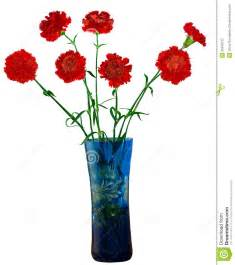Blue Glass Bud Vase Flowers In A Vase Stock Photography Image 22640732