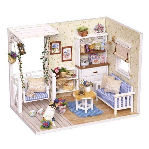 miniature dolls house furniture doll house furniture diy miniature dust cover wooden miniaturas dollhouse for child