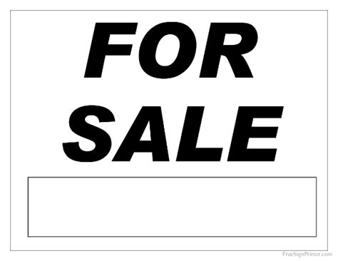 for sale sign printable for sale sign