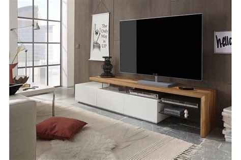 meuble tv design blanc et plateau ch 234 ne massif cbc meubles