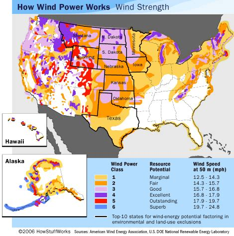 usa wind map wind power usage in the u s wind energy potential
