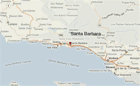 santa barbara map santa barbara location guide