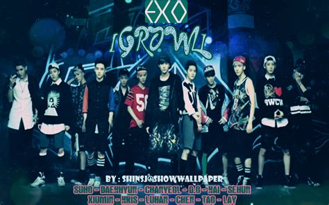 exo wallpaper hd growl exo growl teaser ver 2 wallpaper by shinsj