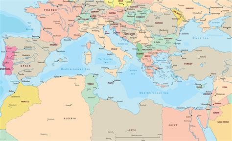 map of mediterranean mediterranean europe map roundtripticket me