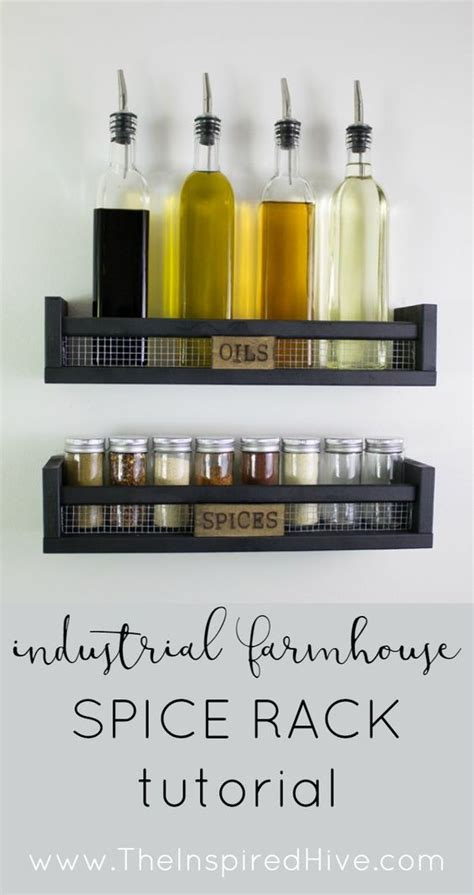 how to attach ikea spice rack to wall diy rustic wall mounted spice rack pinterest spice racks ikea hacks and industrial farmhouse