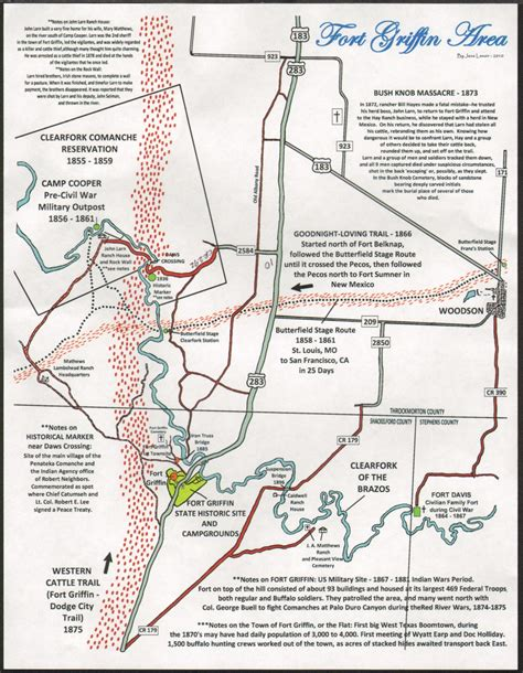fort griffin texas map the fort worth gazette fort griffin a new map of texas frontier history