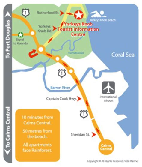 Yorkeys Knob Map by Cairns Tours Activities What To Do Villa Marine