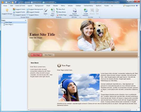 artisteer free templates artisteer 4 3 free software reviews downloads