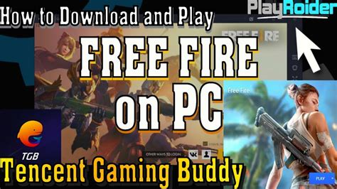 play  fire  pc  tencent gaming buddy