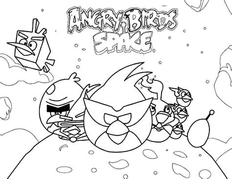 angry birds ice bird coloring pages angry bird space coloring page