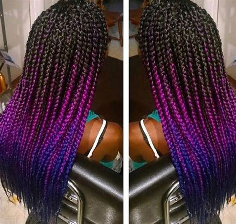 braids for ombre hair fuchsia and blue ombre box braids jumbo braiding hair
