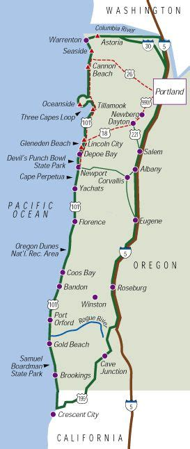 oregon coast road map road trips brewery and day trips on