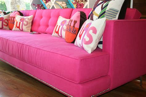 love couch not enough pink in your life thegloss
