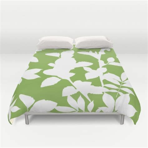 Green And White Duvet Cover Green Duvet Cover Green And White Botanical Duvet Cover