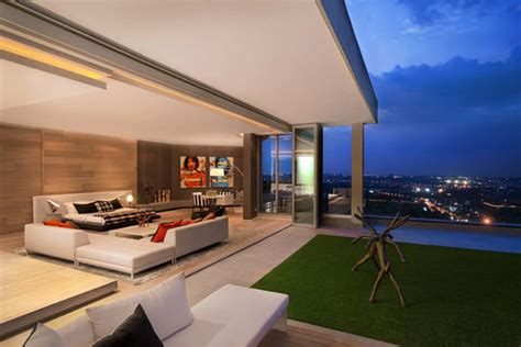freshome com quot smart home quot concept applied to three level penthouse in