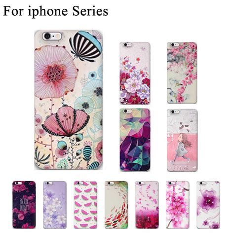 Casing Bunga Iphone 6 6s Softcase Flowers Slim Clear Iphone6 newest slim soft tpu phone cases for apple iphone 6 new 3d flower for iphone 5s