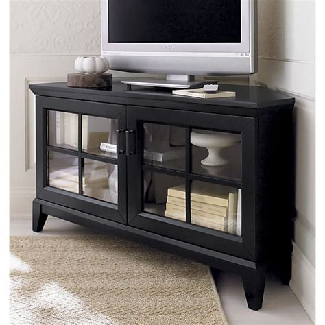 corner media tower cabinet paterson black 48 quot corner media console is inspired by