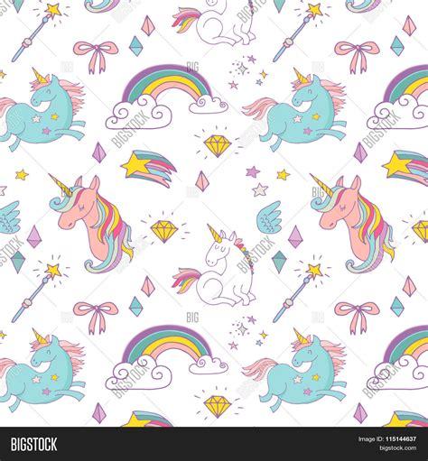 pattern magic italiano magic hand drawn pattern unicorn vector photo bigstock