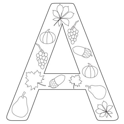 lettere dell alfabeto da colorare lettere dell alfabeto autunnali da colorare per insegnanti