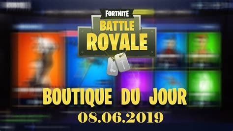 fortnite boutique du  juin  youtube