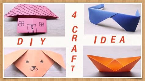 origami dog house diy 4 paper origami boat house sunglasses dog face youtube