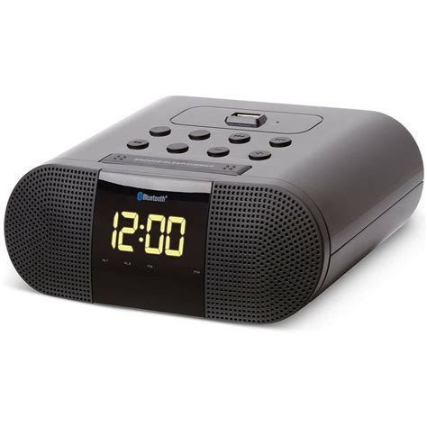 soundlogic xt wireless bluetooth digital alarm clock radio w usb charging port ebay