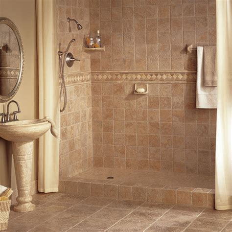 Stall Size Shower Curtain Bathroom Tiles