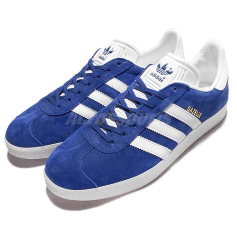 adidas originals gazelle blue white mens vintage shoes classic sneakers s76227 ebay