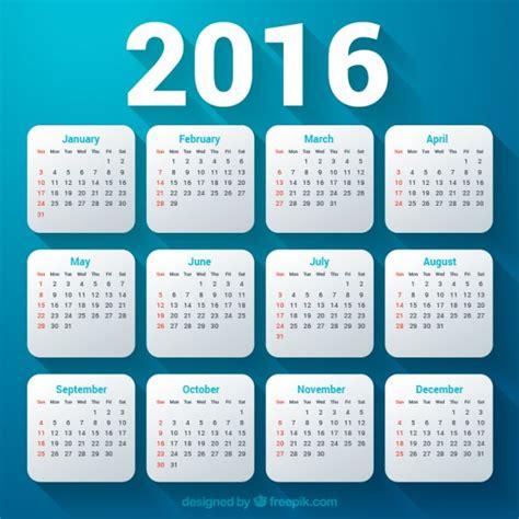 2016 Modelo De Calend 225 Baixar Vetores Gr 225 Tis