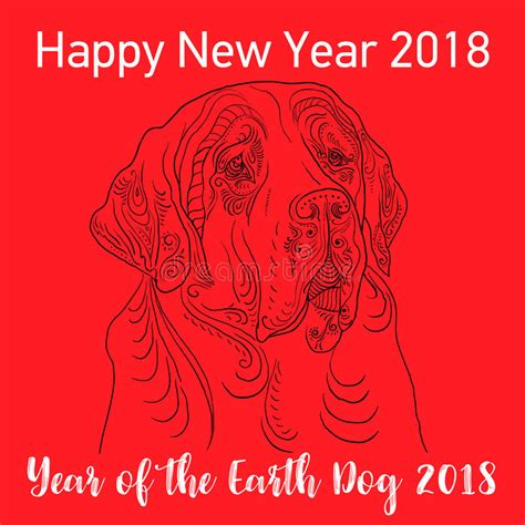 new year 2018 period happy new year 2018 card year of vector stock